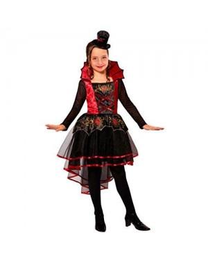 WIDMANN  costume vampiressa 140 (vestito, mini cappello)