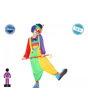 ATOSA 54227 costume clown donna t-3