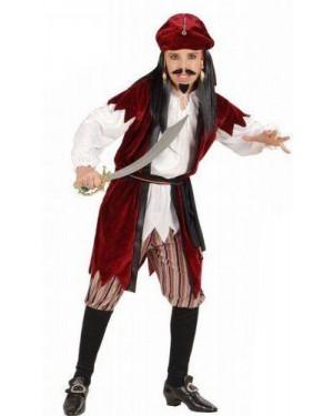 WIDMANN 57417 costume pirata dei caraibi 8/10 cm 140
