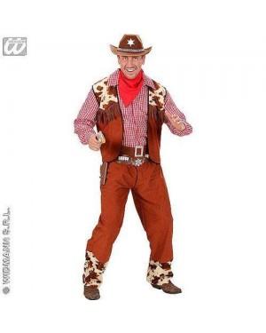 Costume Cowboy S Camicia,Gilet,Pant,Cint,Band