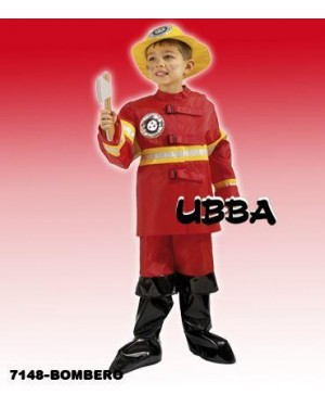 Costume Pompiere 10 Anni Vigile Del Fuoco