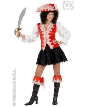 Costume Piratessa Regale Rossa M