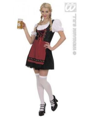 Costume Cameriera Bavarese Xl Vestito-Camicia