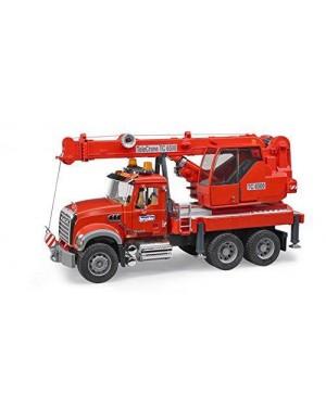 BRUDER 02826 mack granite crane truck c/luci e suoni