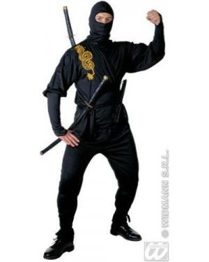 Costume Ninja S Casacca Pantaloni Cintura