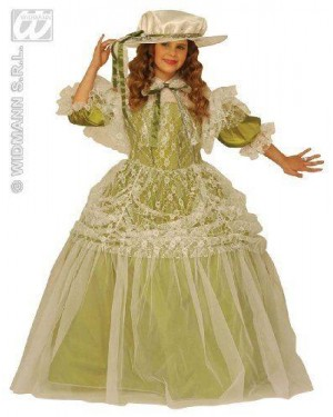 Costume Damigella Con Cappello 5/7 8/10 11/13
