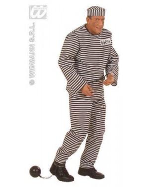 Costume Carcerato S In Tessuto Lusso