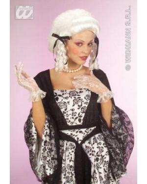 WIDMANN C0870 parrucca bianca dama coloniale corta