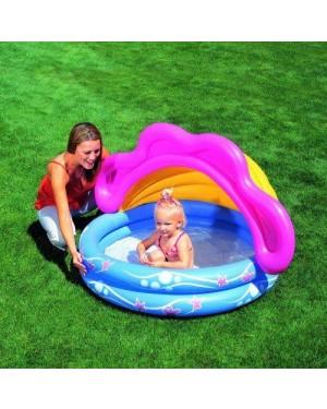 bestway 51098 piscina 2 anelli cm 142x86 con parasole