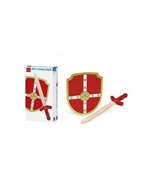 DAL NEGRO 53861 set cavaliere legno spada c/scudo