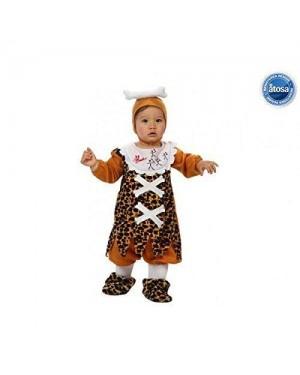 Costume Cavernicolo Bebe 12/24 Mesi 1/2