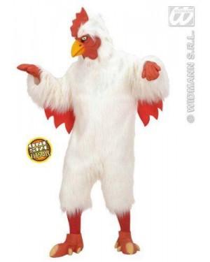 Costume Pollo In Peluche M Bianco Teatrale