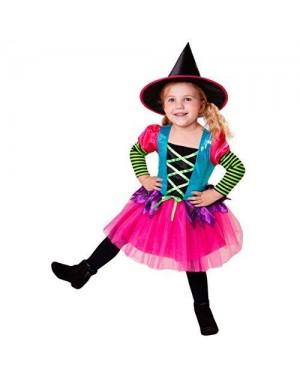 WIDMANN 07475 costume strega tutu multicolor 4/5 116cm