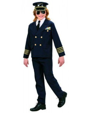 Costume Pilota Tessuto 11/13 Pesante 158Cm Giacca,