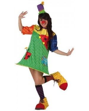 Costume Clown T-2 M/L Donna