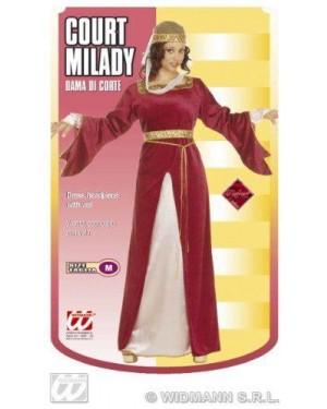 Dama Di Corte (Vestito, Copricapo Con Velo)