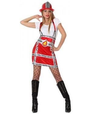 Costume Pompiere Donna, Adulto T. 1