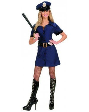 Costume Poliziotta M Vestito,Cintura,Cappello