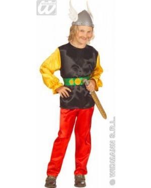 Costume Gaulois Asterix 5/7 128Cm In Raso
