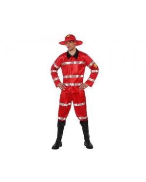 Costume Da Pompiere Rosso, T-1