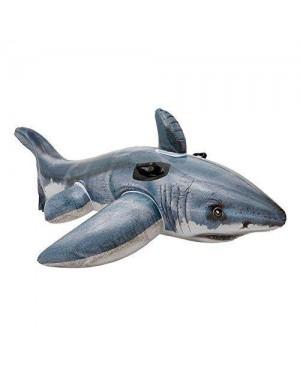 INTEX 57525 intex cavalcabile squalo bianco 173x107
