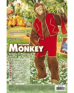 Costume Scimmia In Peluche Con Bermuda, Gilet, Man