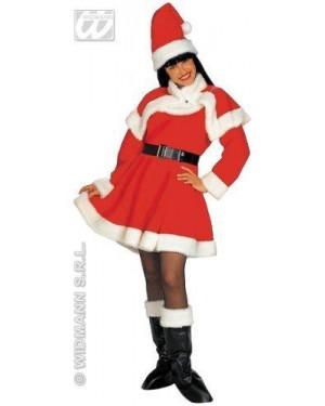 Costume Mamma Natale L Super Lusso In Flanella