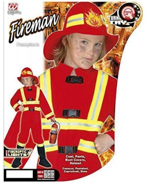 Costume Pompiere Con Luce 5/7 Cm 128