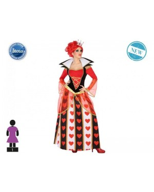 ATOSA 54487 costume regina di cuori t-2 alice