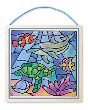 MELISSA E DOUG 18582 vetro macchiato facile - ocean