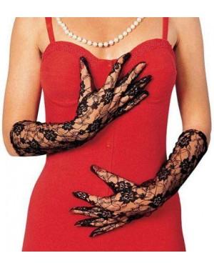 widmann 4634n guanti lunghi neri pizzo 40cm