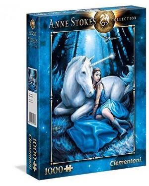 CLEMENTONI 39462 puzzle 1000 anne stokes - blue moon #87820