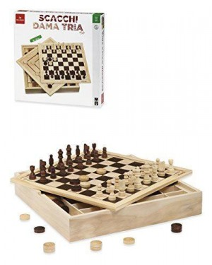 DAL NEGRO 53909.0 scacchi dama tria top cm.36