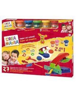 giocheria rdf50118 crea mania pasta da modellare mega play set