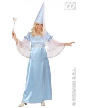 Costume Fata Turchese S Raso Vestito,Cappello C