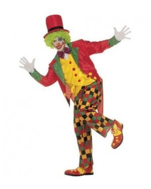 Costume Clown S Frac,Gilet,Farfallino,Pantaloni