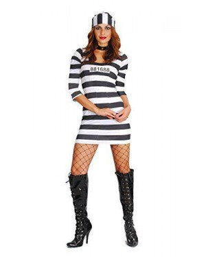 Costume Carcerata Alcatraz Tg Unica 275