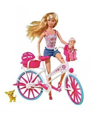 SIMBA 105739050 steffi love bambola giro in bici +access