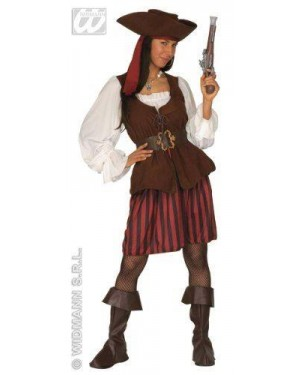 Costume Pirata L Donna Con Accessori