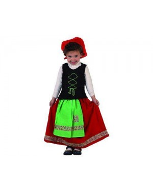 Costume Pastorella Verde Bambina 1-2 A
