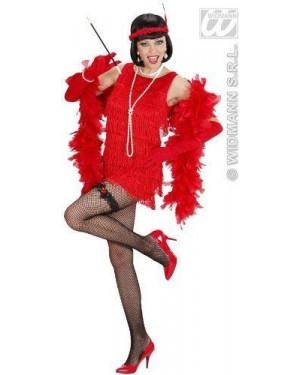 Costume Charleston Lusso Rosso M /Guanti E Fascia