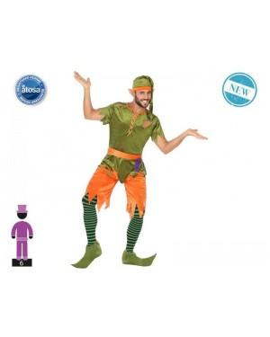 ATOSA 56491 costume elfo verde t-2 uomo
