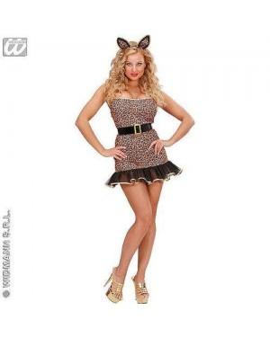 Costume Leopardessa M In Lycra Vestito, Coda,