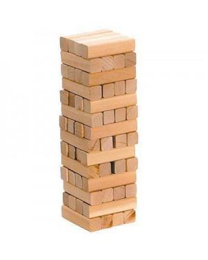 GIOCHERIA RDF50547 zig zag torre traballante legno jenga