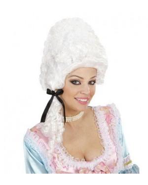 widmann v0756 parrucca bianca boccoli versailles +fiocco