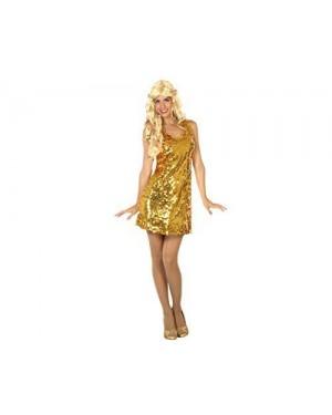 ATOSA 30564.0 costume disco dorato xs-s