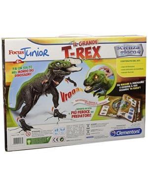 clementoni 13938 focus j grande t-rex realistico 6+