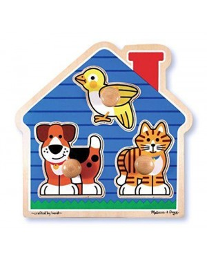 MELISSA E DOUG 12055 casa animali grandi peg puzzle