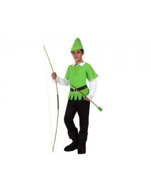 Costume Da Arciere Dei Boschi T3 7-9 Anni