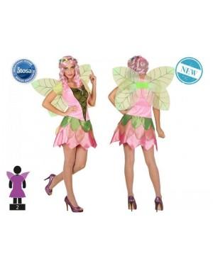 ATOSA 55919 costume fata rosa t-2